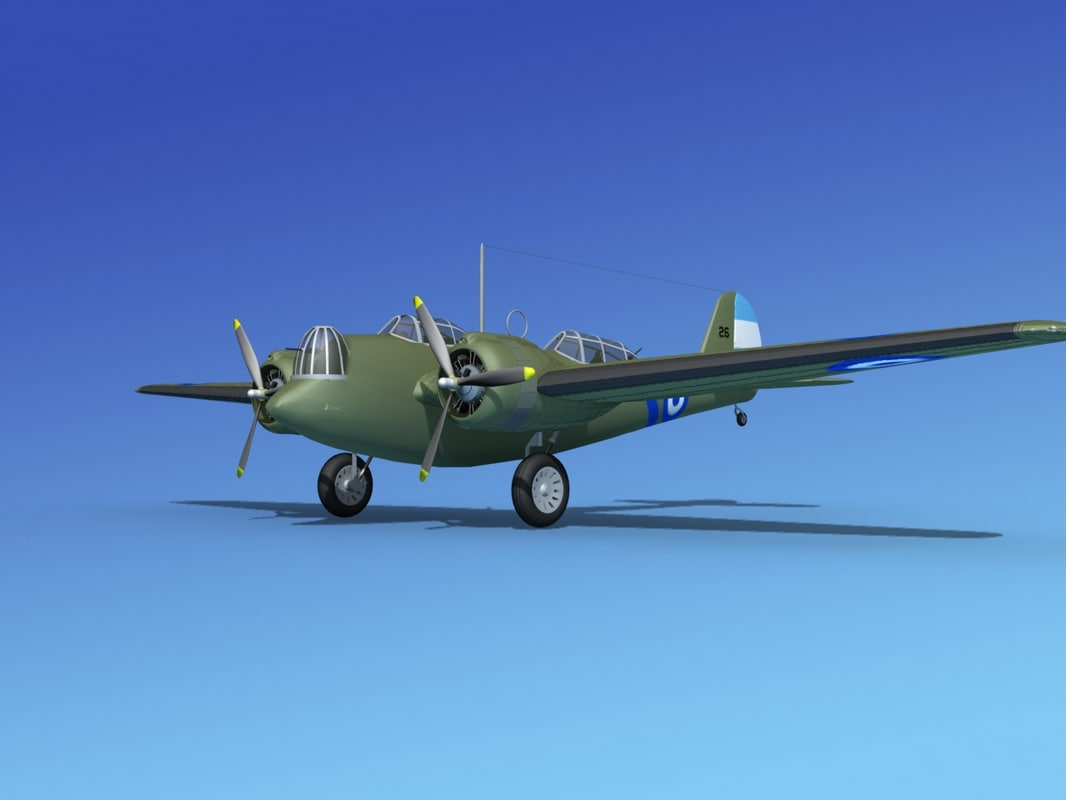 3d propellers martin b-10 bomber