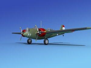 propellers martin b-10 bomber 3d max