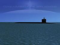 missile ohio class submarines 3d max