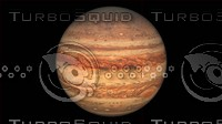 3d jupiter lighten 16k surface model