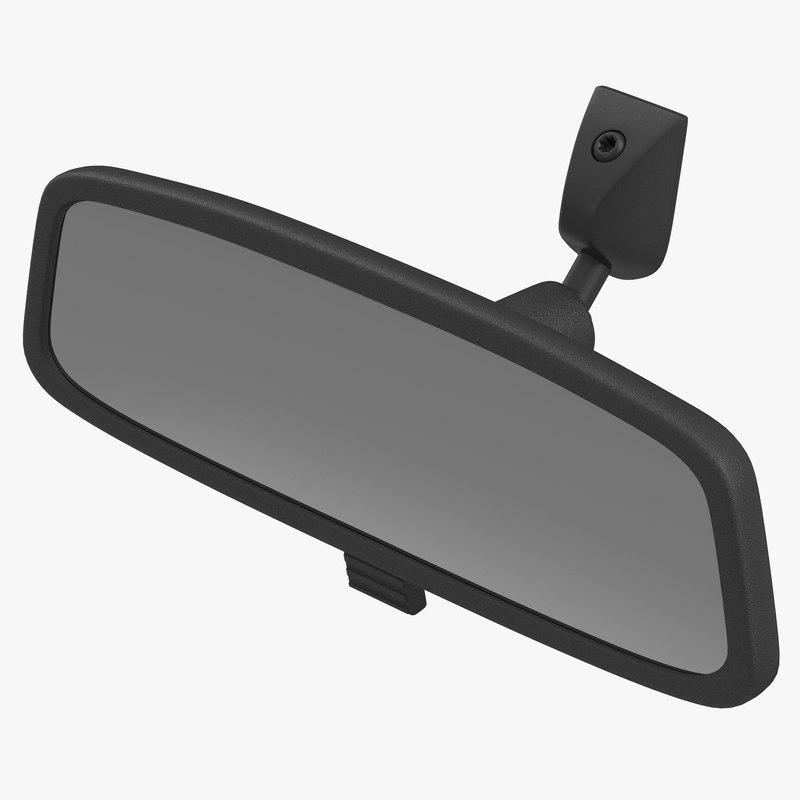 3d car rearview mirror