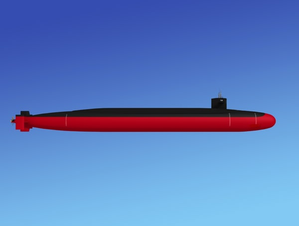 3d ssgn missile ohio class model