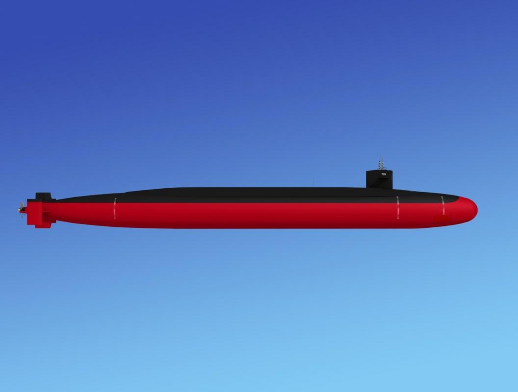 3d ssgn missile ohio class model