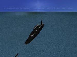 3d ssgn ohio class submarines model