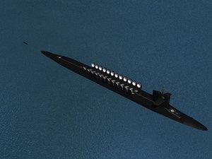 3d missile ohio class submarines model