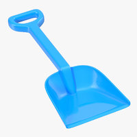 3d model toy shovel 2
