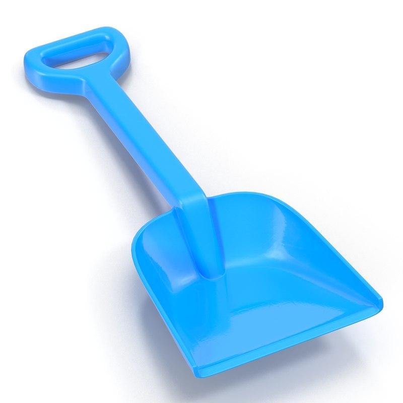 3d model toy shovel 2