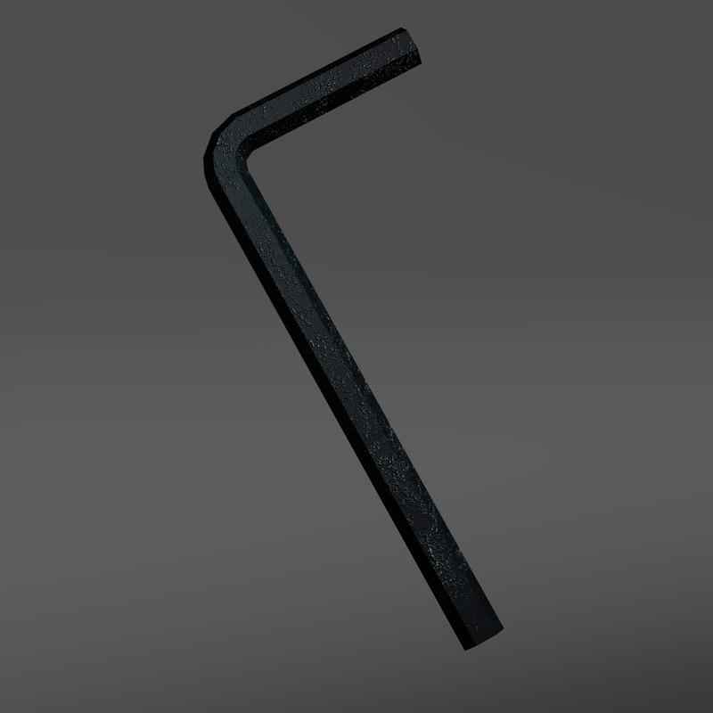 3d allen wrench model