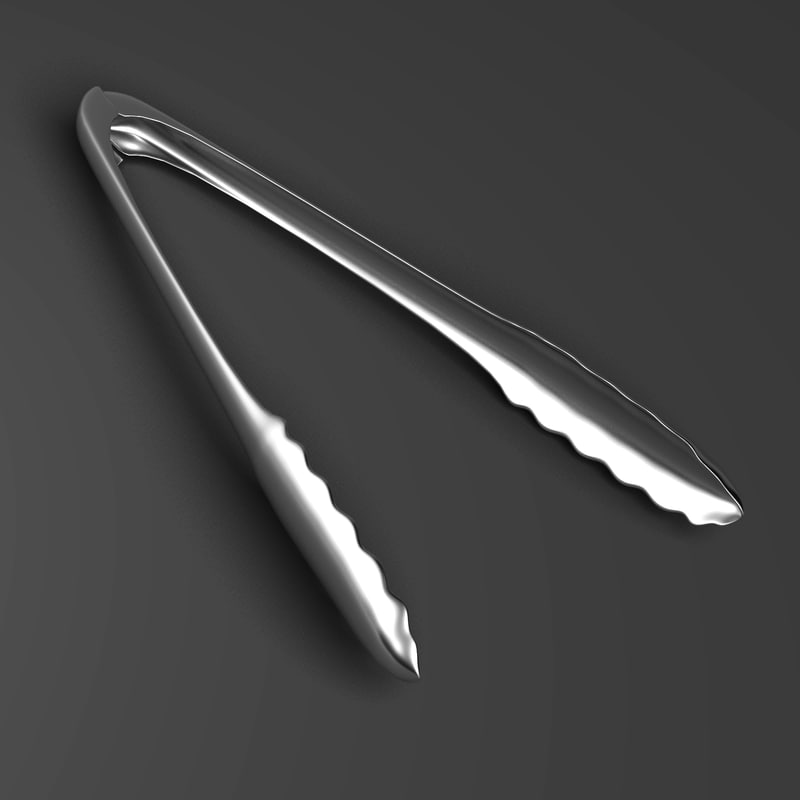 3d grilling kitchen tongs model