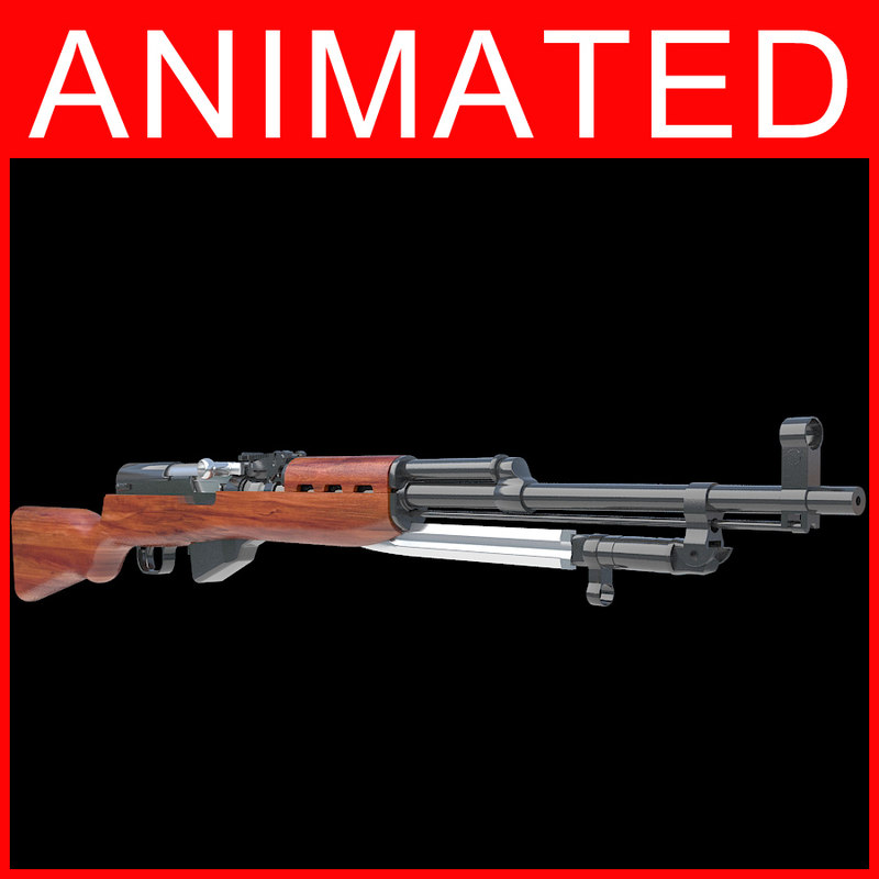 3d model of rifle gun semi automatic