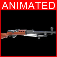 3d model of rifle gun semi automatic