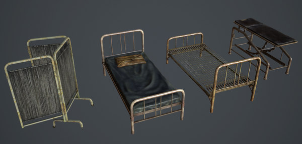 old infirmary set 3d fbx