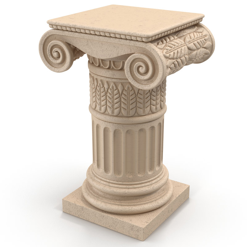 3ds max ionic order column pedestal