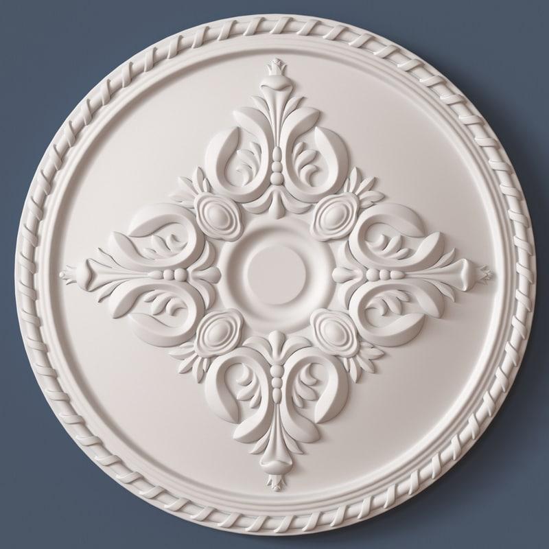3d ceiling medallion model