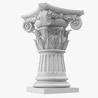 max composite order column pedestal