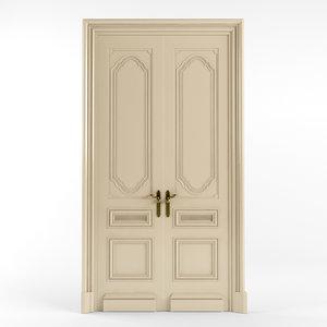 3ds max classic door