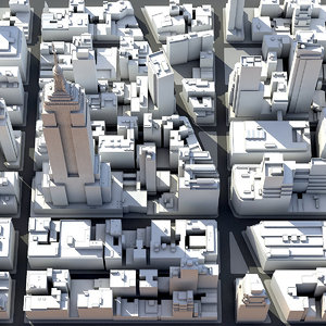 madison square garden district 3d model