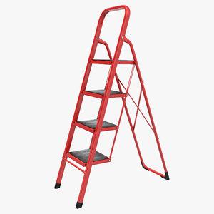3d model step ladder