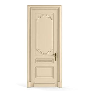 3d classic door model