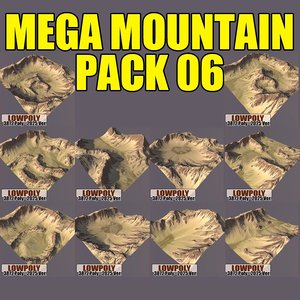 mountains pack 3d model