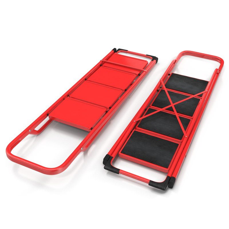 3d model step ladder 2
