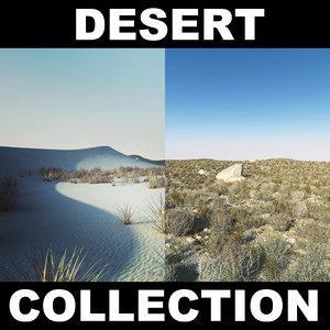 desert sand landscape terrain 3d model