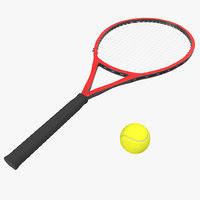 3d tennis racket ball model