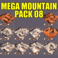 3d model mountains pack