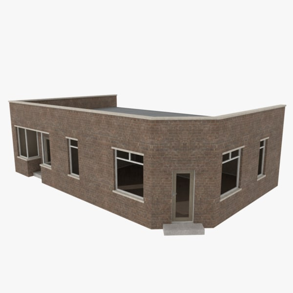 3d brick building interiors