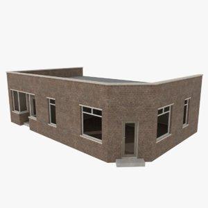 3d brick building interiors