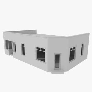 brick building interiors 3d 3ds