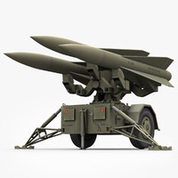 low-poly hawk missile launcher 3d max