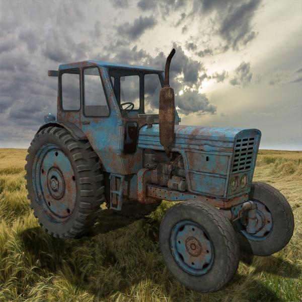 3ds max belarus tractor