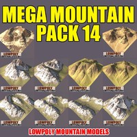 3d 3ds mountains pack