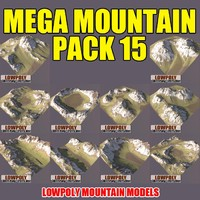 3d mountains pack model