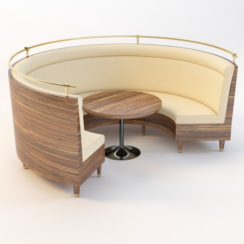 table sofa 3d 3ds