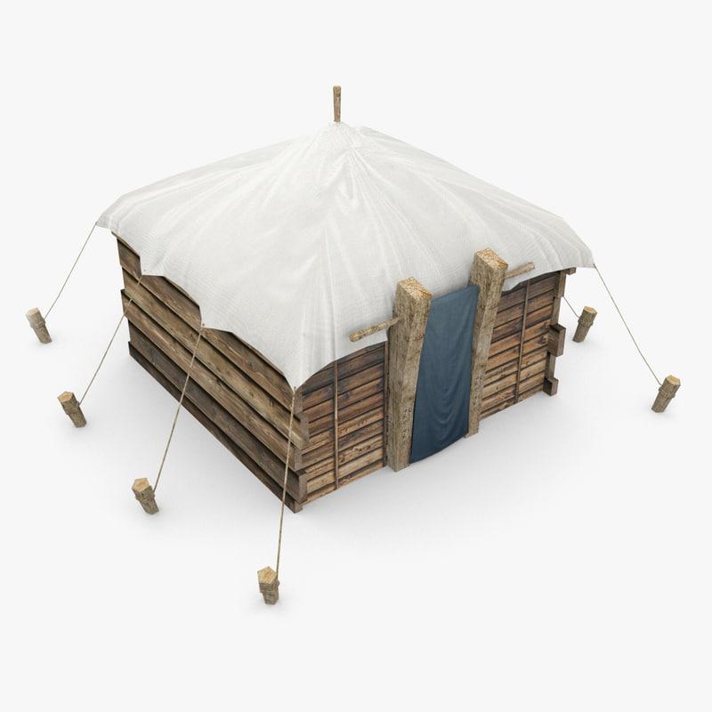 medieval hut obj