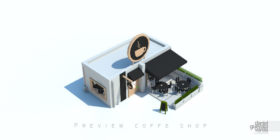 coffe shop 3d model