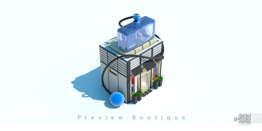 3d arquitecture shop boutique