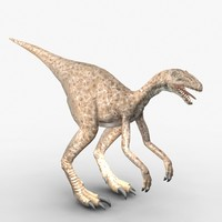 3d model eoraptor triassic