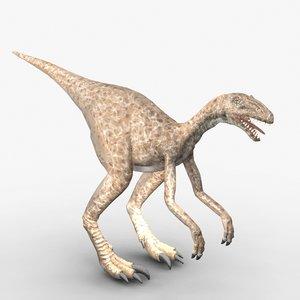 3d model eoraptor triassic