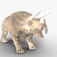 rigged triceratops 3d model