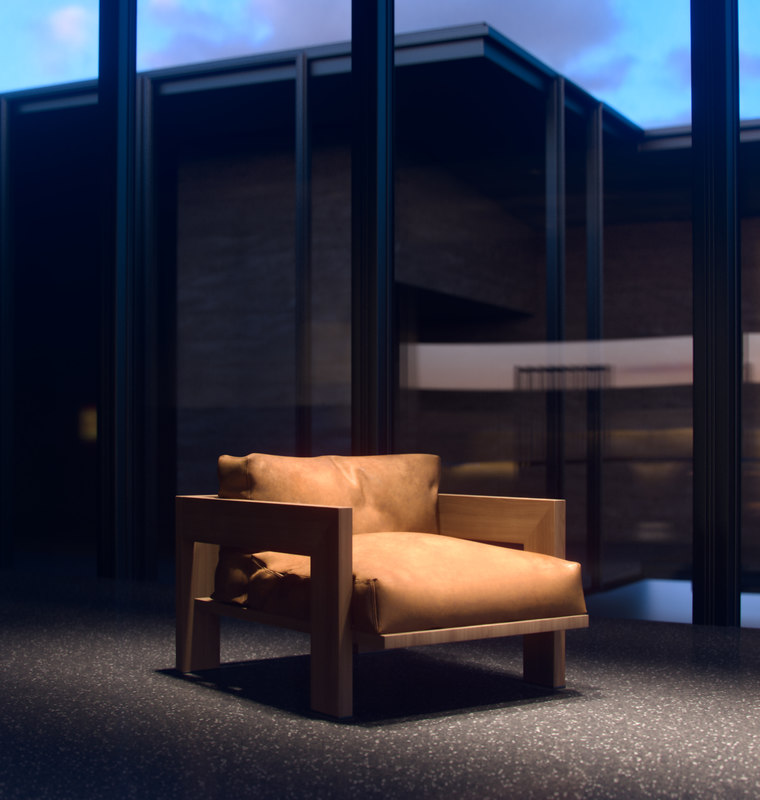 minotti alison arm chair 3d model