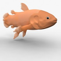 coelacanth prehistoric 3d model