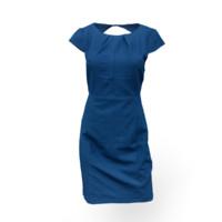 blue dress obj