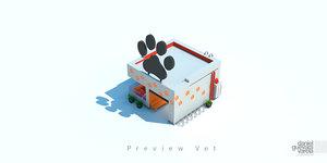 3d model veterinary building