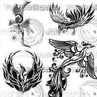 Four Phoenix Tattoos