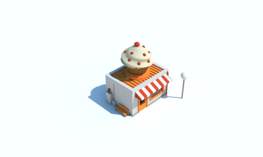 3d model store cupcake