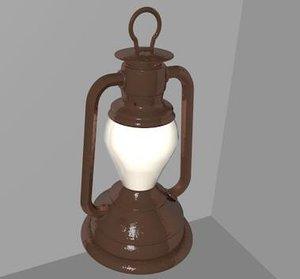 oil lamp c4d