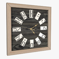 domino clock fbx